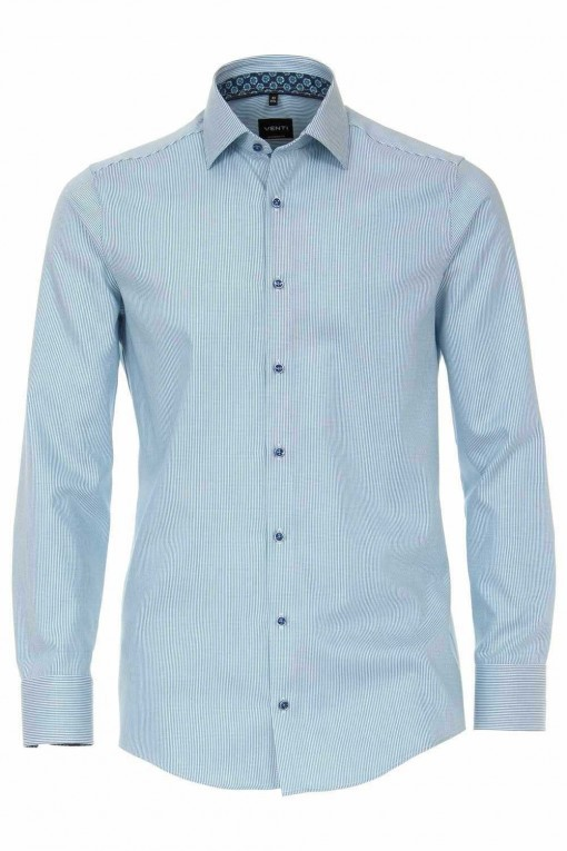Venti slim fit shirt aqua blue