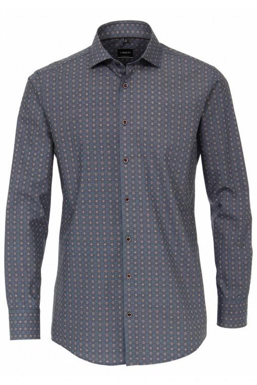 Venti slim fit shirt aqua blue