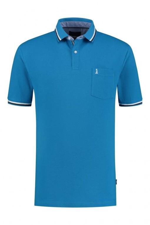 Casa Moda shirt blue checked, extra long sleeves