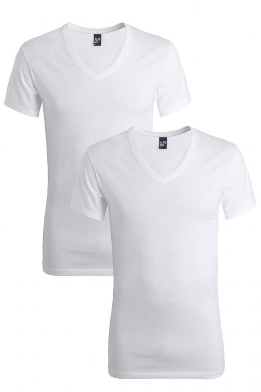 Alan Red T-Shirt Derby extra lang 2-pack