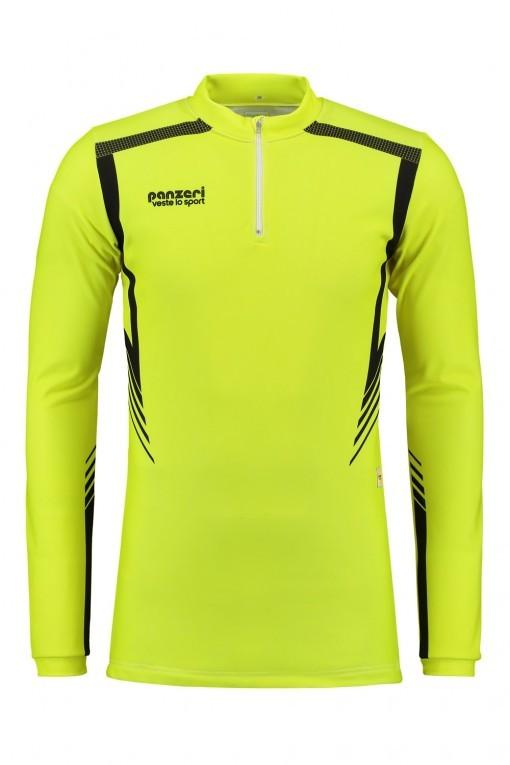 Panzeri San Diego - Shirt Long Sleeves Zip Neon Geel