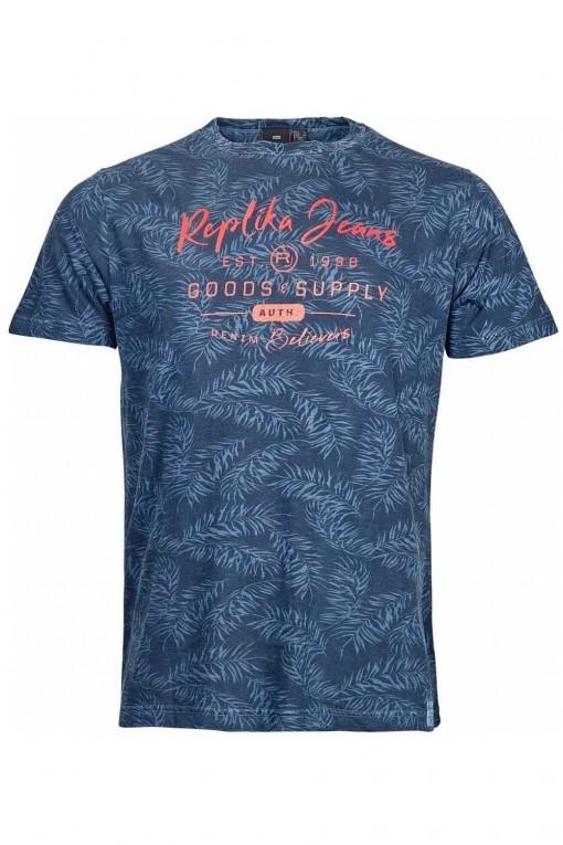 Replika Jeans T-shirt dark red