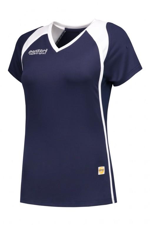 Panzeri Milano Cap Sleeves Shirt - dark blue