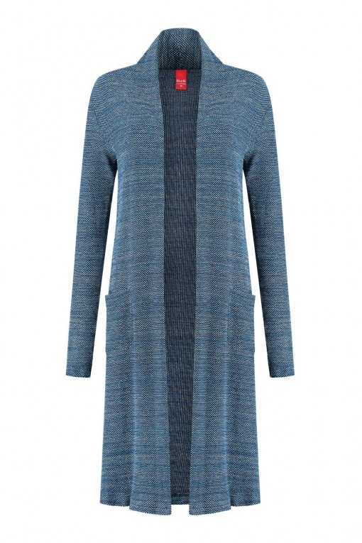 Only M - Lang blauw vest