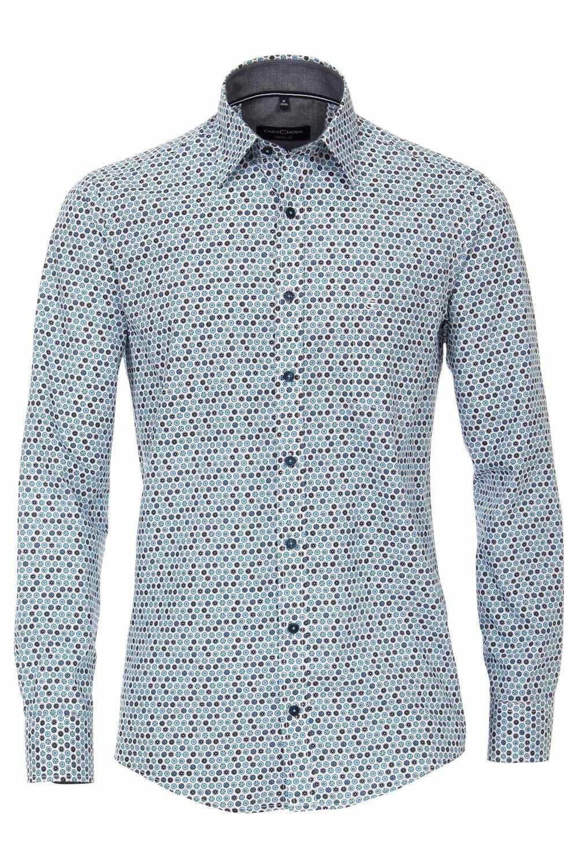 Casa Moda Casual Fit Shirt Blue Specks
