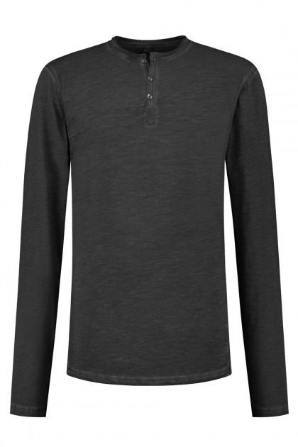Replika Jeans Granddad-shirt donkergrijs