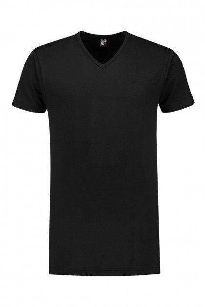 Alan Red T-Shirt - Derby Zwart extra lang