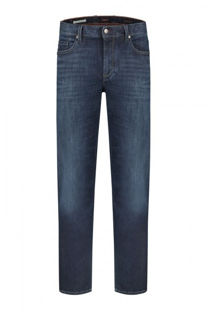 "Alberto Jeans Stone - Light Denim Navy, 40"" inside leg"
