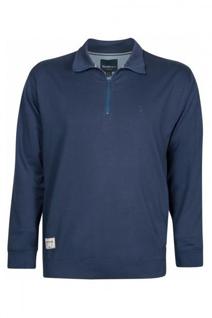Kitaro Poloshirt - Donkerblauw, mouwlengte 7