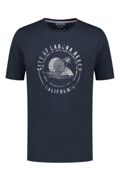 Kitaro T-shirt - Amalfi Coast Red, extra lang t-shirt