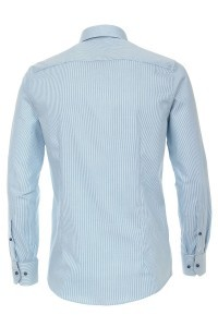 Venti Modern Fit Shirt - Aqua Stripe