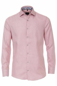 Venti Modern Fit Shirt - Red/white