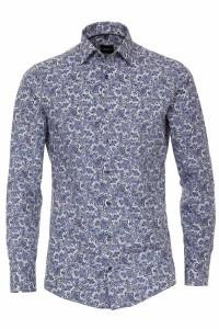 Venti Modern Fit Shirt - Paisley Blue