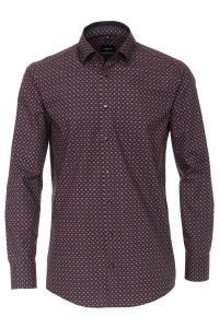 Venti Modern Fit Shirt - Red/multi