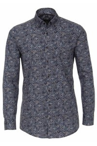 Venti Modern Fit Shirt - Dark Blue Paisley