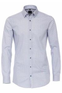 Venti Body Fit Shirt - White/Blue