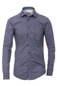 Venti slim fit shirt dark blue print