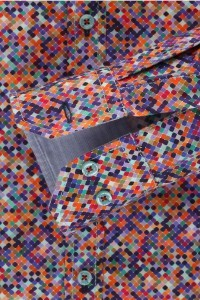 Venti slim fit shirt multi colour