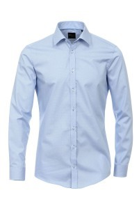 Venti body fit dress shirt blue