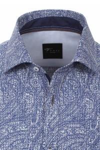 Venti slim fit shirt navy print