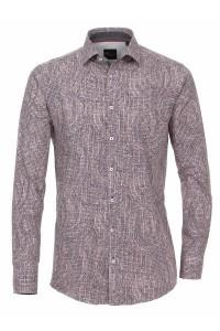 Venti slim fit shirt red print