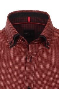 Venti slim fit shirt red