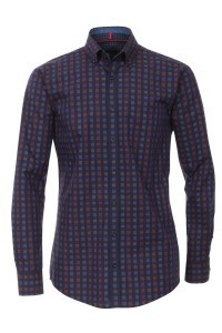 Venti slim fit shirt navy check