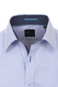 Venti body fit shirt blue