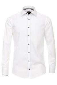 Venti Slim Fit Shirt- White