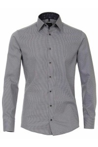 Venti Modern Fit Shirt - Light Grey Pattern