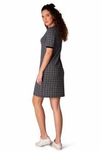 Yest Dress - Pattern Black/White