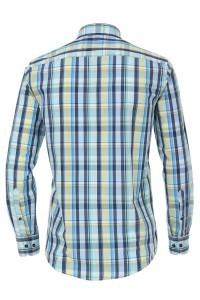 Casa Moda Casual Fit Shirt - Blue Tartan