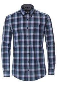 Casa Moda Casual Fit Shirt - Navy/checkered