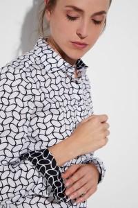 Eterna - Blouse Geometric Black/White
