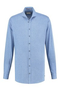 Blue Crane slim fit shirt - Sky blue melange