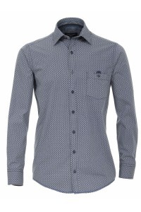 Casa Moda Casual Fit Shirt - navy dots