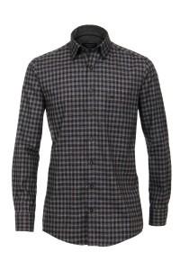 Casa Moda comfort fit Shirt - Antracite checked