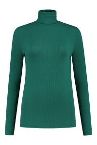 Yest Turtleneck - Ribbed Forest Green