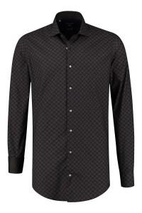 Corrino Tall Shirt - Milano checkered black/brown