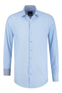 Corrino shirt - Milano light blue print