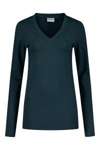 Highleytall - V-hals shirt lange mouw navy