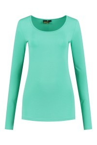 Sequoia - Basic top long sleeve light turquoise