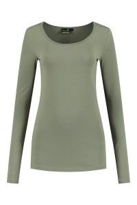Sequoia - Basic top long sleeve khaki