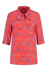 Only M - Blouse with bow red