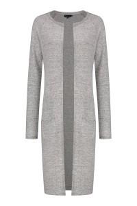 Bloomings - Crew neck cardigan light grey