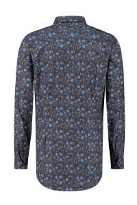 Ledûb Modern Fit Shirt - Navy Print