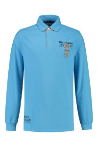 Kitaro Long Sleeve Polo-shirt - Pacific Blue