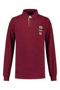 Kitaro Long Sleeve Polo-shirt - Burgundy