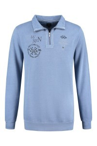 Kitaro Long Sleeve Polo-Shirt - Ski Circuit blue