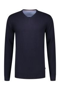 Kitaro Sweater - V-neck Navy